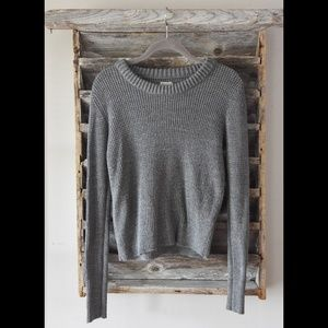 Gray / Grey Crew Converse Sweater Sz XS